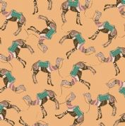 Inprint Indian Spice Market - 4514 - Camel Train on Peach - 2025 N20 - Cotton Fabric